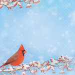 Paper House Productions - Winter Wonderland Collection - 12 x 12 Paper - Cardinal
