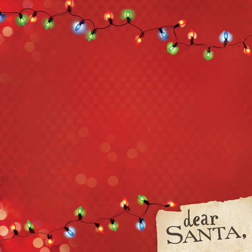 Paper House Productions - Night Before Christmas Collection - 12 x 12 Paper - Dear Santa