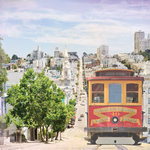 Paper House Productions - San Francisco Collection - 12 x 12 Paper - Cable Car