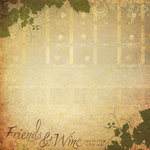 Paper House Productions - Wine and Friends Collection - 12 x 12 Paper - Friends and Wine