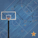 Paper House Productions - Basketball Collection - 12 x 12 Paper - Basketball Court