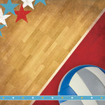Paper House Productions - Volleyball Collection - 12 x 12 Paper - Volleyball Court