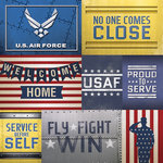 Paper House Productions - 12 x 12 Paper - US Air Force Tags