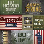 Paper House Productions - 12 x 12 Paper - US Army Tags