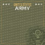 Paper House Productions - 12 x 12 Paper - US Army Emblem