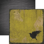 Paper House Productions - Fright Night Collection - Halloween - 12 x 12 Double Sided Paper - The Raven