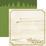 Paper House Productions - Christmas Cheer Collection - 12 x 12 Double Sided Paper - Deck the Halls