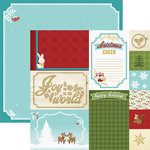 Paper House Productions - Christmas Cheer Collection - 12 x 12 Double Sided Paper - Christmas Cheer Tags