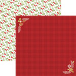 Paper House Productions - Christmas Cheer Collection - 12 x 12 Double Sided Paper - Red Flannel