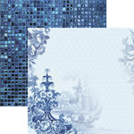 Paper House Productions - Color Ways Collection - Sapphire - 12 x 12 Double Sided Paper - Delft