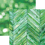 Paper House Productions - Color Ways Collection - Emerald - 12 x 12 Double Sided Paper - Woodwork