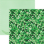 Paper House Productions - Color Ways Collection - Emerald - 12 x 12 Double Sided Paper - Mosaic