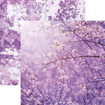 Paper House Productions - Color Ways Collection - Orchid - 12 x 12 Double Sided Paper - Branches
