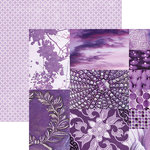 Paper House Productions - Color Ways Collection - Orchid - 12 x 12 Double Sided Paper - Trim Cards