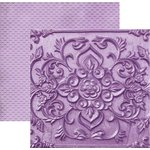 Paper House Productions - Color Ways Collection - Orchid - 12 x 12 Double Sided Paper - Carving