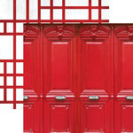 Paper House Productions - Color Ways Collection - Rouge - 12 x 12 Double Sided Paper - Doors