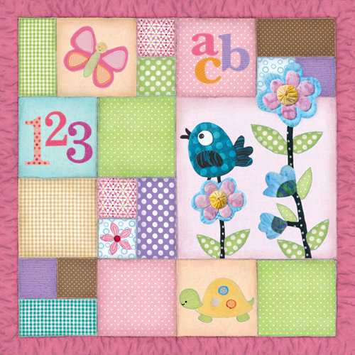 Paper House Productions - Little Girl Collection - 12 x 12 Paper - Quilt