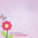 Paper House Productions - Little Girl Collection - 12 x 12 Paper - My Sunshine