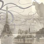 Paper House Productions - Paris Collection - 12 x 12 Paper with Glitter Accents - Paris