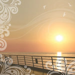 Paper House Productions - Cruise Collection - 12 x 12 Paper with Glitter Accents - Sunset Cruise
