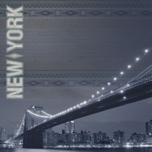 Paper House Productions - New York City Collection - 12 x 12 Paper with Glitter Accents - Manhattan Skyline