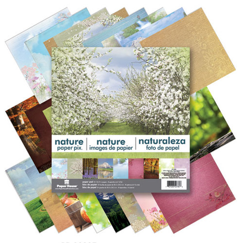 Paper House Productions - 12 x 12 Paper Pad - Nature