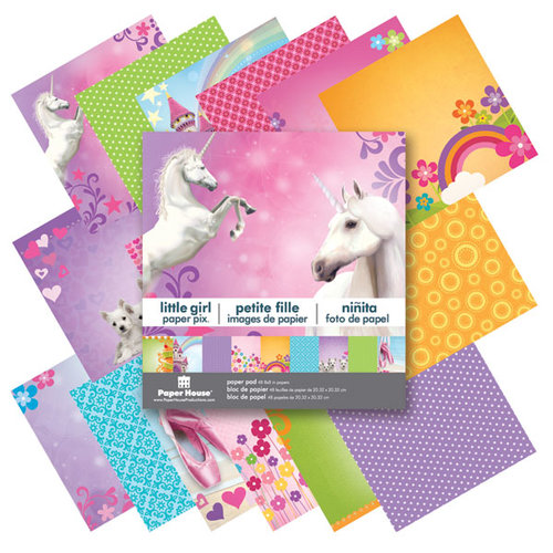 Paper House Productions - 8 x 8 Paper Pad - Little Girl