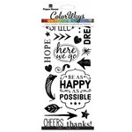 Paper House Productions - Color Ways Collection - Rub Ons - Be Happy