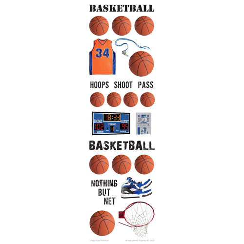 Paper House Productions - Basketball Collection - Rub Ons - Basketball