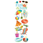 Paper House Productions - Fun Beach Collection - Glitter Rub Ons - Fun in the Sun
