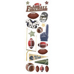 Paper House Productions - Football Collection - Glitter Rub Ons - Football