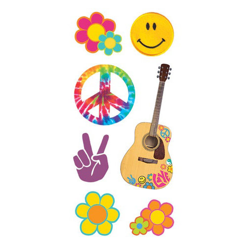 Paper House Productions - Flower Child Collection - StickyPix Stickers - Flower Power