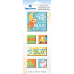 Paper House Productions - Canvas Stickers - Moon and Back