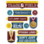 Paper House Productions - 3 Dimensional Stickers - Track and Field