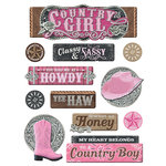 Paper House Productions - 3 Dimensional Stickers - Country Girl