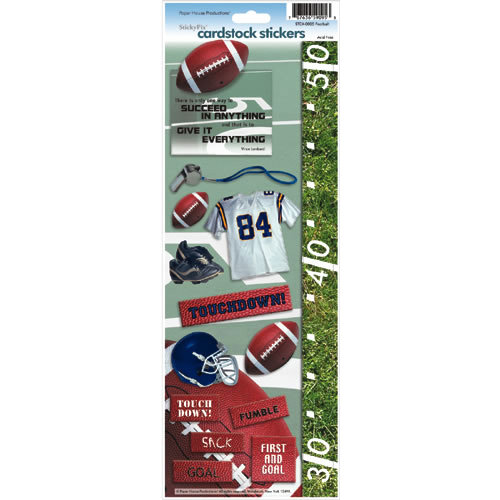 Paper House Productions - Football Collection - Cardstock Stickers - Football