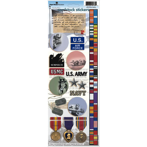Paper House Productions - Military Collection - Cardstock Stickers - Military