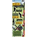 Paper House Productions - Field Hockey Collection - Cardstock Stickers - Field Hockey