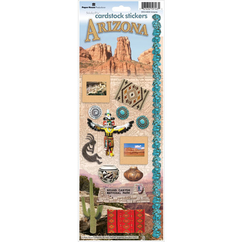 Paper House Productions - Arizona Collection - Cardstock Stickers - Arizona
