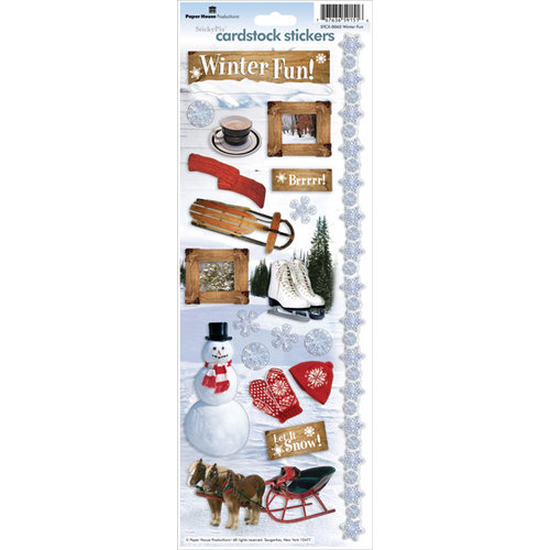 Paper House Productions - Winter Fun Collection - Cardstock Stickers - Winter Fun