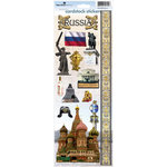 Paper House Productions - Russian Collection - Cardstock Stickers - Russia
