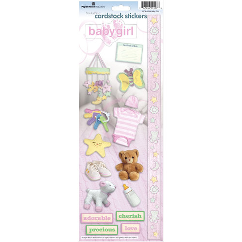 Paper House Productions - Baby Girl Collection - Cardstock Stickers - Baby Girl