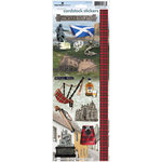 Paper House Productions - Scotland Collection - Cardstock Stickers - Scotland