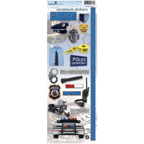 Paper House Productions - Police Collection - Cardstock Stickers - Police