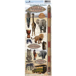 Paper House Productions - Africa Collection - Cardstock Stickers - African Safari
