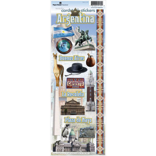 Paper House Productions - Argentina Collection - Cardstock Stickers - Argentina