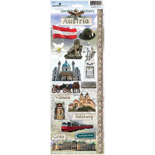 Paper House Productions - Austria Collection - Cardstock Stickers - Austria