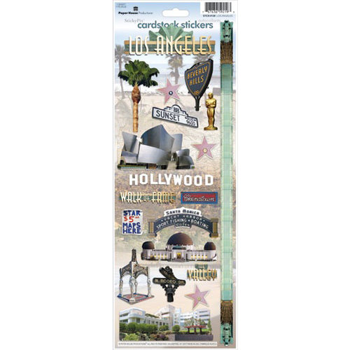 Paper House Productions - Los Angeles Collection - Cardstock Stickers - Los Angeles