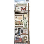 Paper House Productions - Ellis Island Collection - Cardstock Stickers - Ellis Island