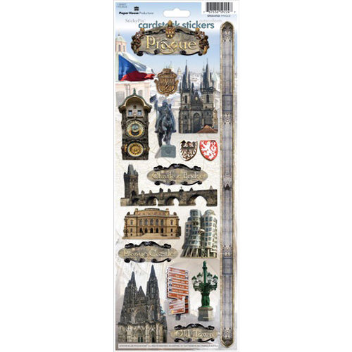 Paper House Productions - Prague Collection - Cardstock Stickers - Prague